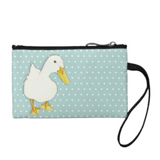 Duck Kiss dots Key Coin Clutch Bag Change Purse