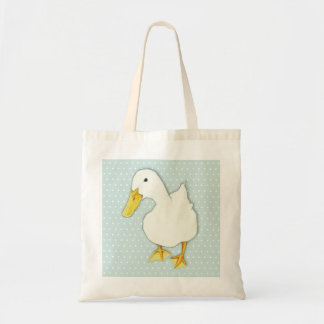 Duck Kiss dots Tote Bag