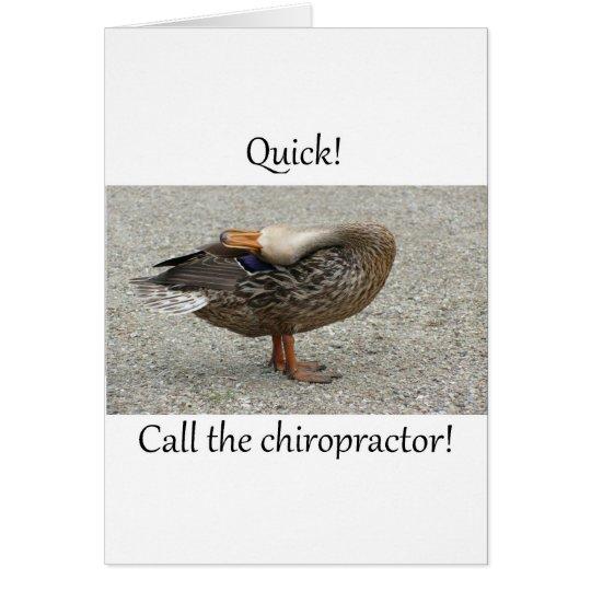 Duck Needs Chiropractor Card