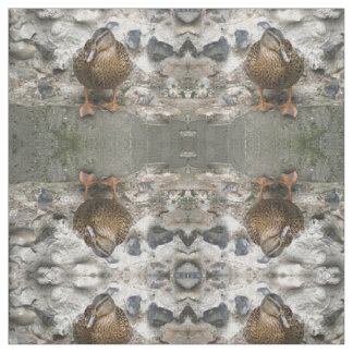 Duck on a Wall Patterned Animal Fabric