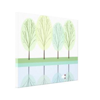 Duck Pond Gallery Wrap Canvas