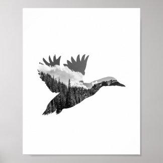 Duck poster print.