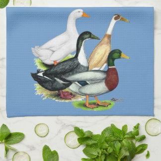 Duck Quartet Tea Towel