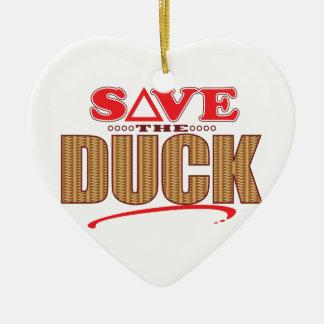 Duck Save Christmas Ornament