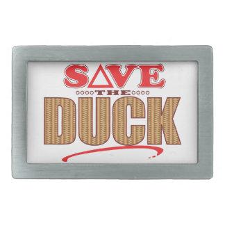 Duck Save Rectangular Belt Buckle
