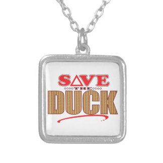 Duck Save Silver Plated Necklace