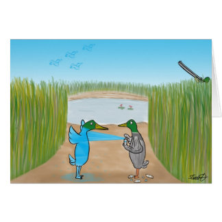 Duck Shooting  Greeting Card