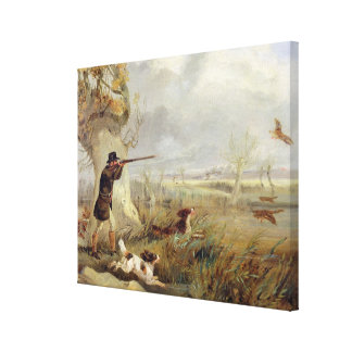 Duck Shooting (oil on canvas) Stretched Canvas Prints
