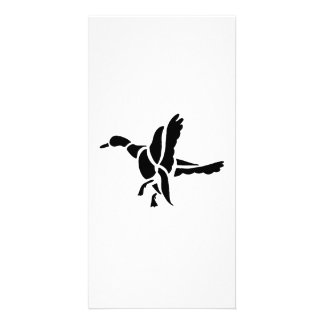 Duck Silhouette Photo Greeting Card
