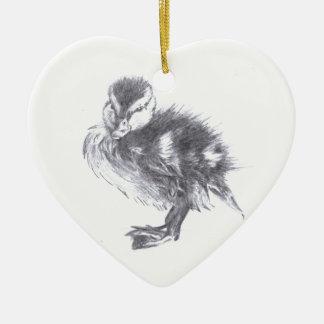 Duck Sketch Christmas Ornament