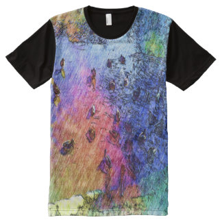 duck swiming in a pond All-Over print T-Shirt
