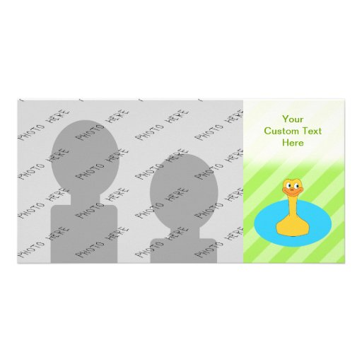 Duck Swimming in a Pond. Photo Greeting Card