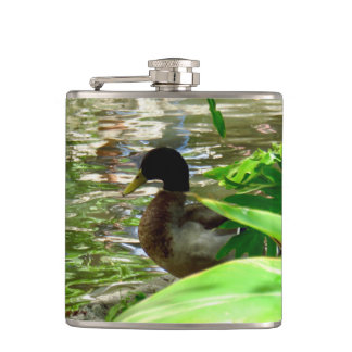 Duck Vinyl Wrapped Flask