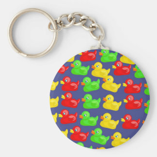 Duck Wallpaper Basic Round Button Key Ring
