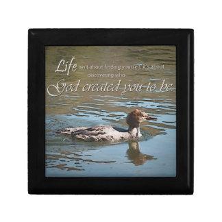 Duck Watercolor Small Square Gift Box