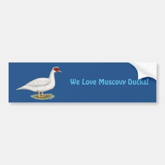 Duck White Muscovy Bumper Sticker