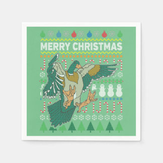 Duck Wildlife Merry Christmas Ugly Sweater Paper Serviettes