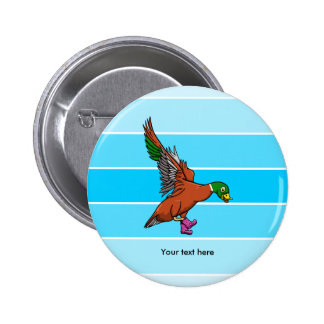 Duck With Boots On Illustration 6 Cm Round Badge