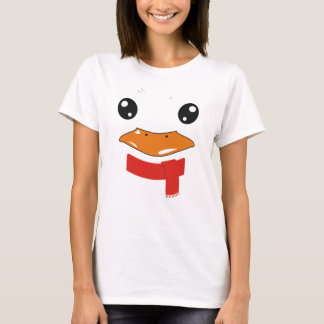 Duck with scarf face toon T-Shirt