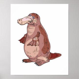 duckbill platypus print