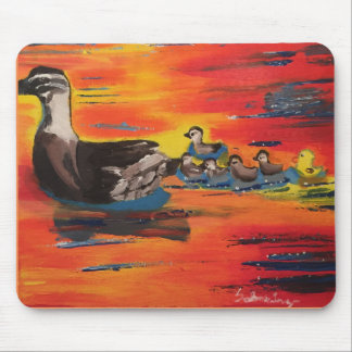 Duckie Sunset Mouse Pad