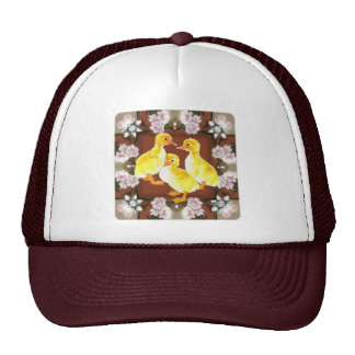 Ducklings and Roses Mesh Hat