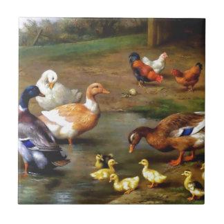 Ducks and ducklings tile