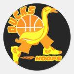 Ducks Basketball Stickers