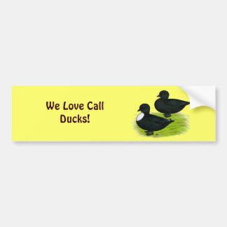 Ducks:  Black Calls Bumper Sticker