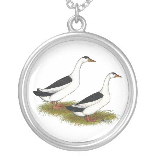 Ducks:  Black Magpies Custom Necklace