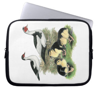 Ducks Black Pied Muscovy Family Laptop Sleeves