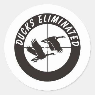 ducks_eliminated round sticker