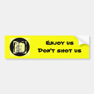 Ducks, Enjoy usDon't shot us Bumper Sticker