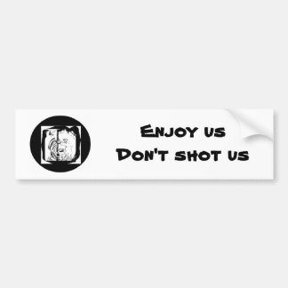 Ducks, Enjoy usDon't shot us Car Bumper Sticker