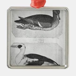 Ducks, from the The Vallardi Album Silver-Colored Square Decoration