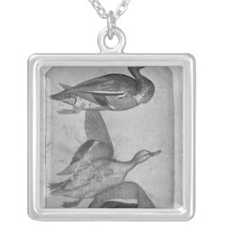 Ducks, from the The Vallardi Album Silver Plated Necklace