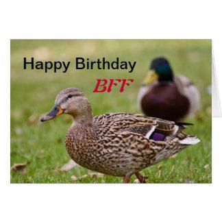 Ducks Happy Birthday BFF Card