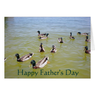 Ducks, Happy Father's Day Greeting Card