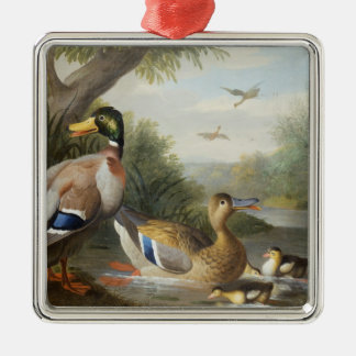 Ducks in a River Landscape Christmas Ornament