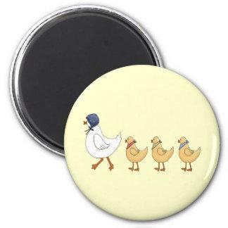 Ducks In A Row Fridge Magnets