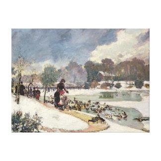 Ducks in the Bois de Boulogne Canvas Print