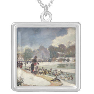 Ducks in the Bois de Boulogne Silver Plated Necklace