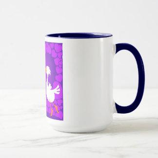 Ducks kissing, mug