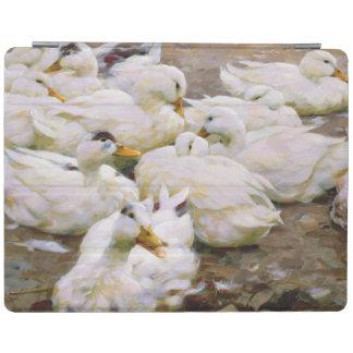 Ducks on a pond iPad cover