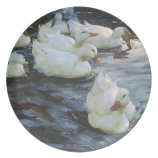 Ducks on a Pond Party Plate