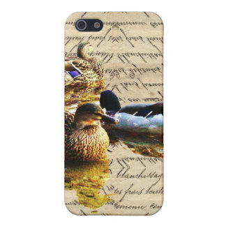 Ducks on vintage paper cover for iPhone 5/5S