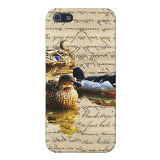 Ducks on vintage paper iPhone 5/5S cases