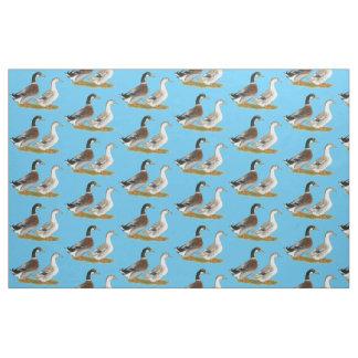 Ducks:  Silver Appleyard Fabric
