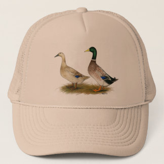 Ducks:  Silver Welsh Harlequin Trucker Hat