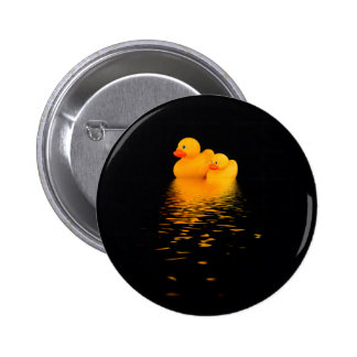 Ducks that pass in the night 6 cm round badge